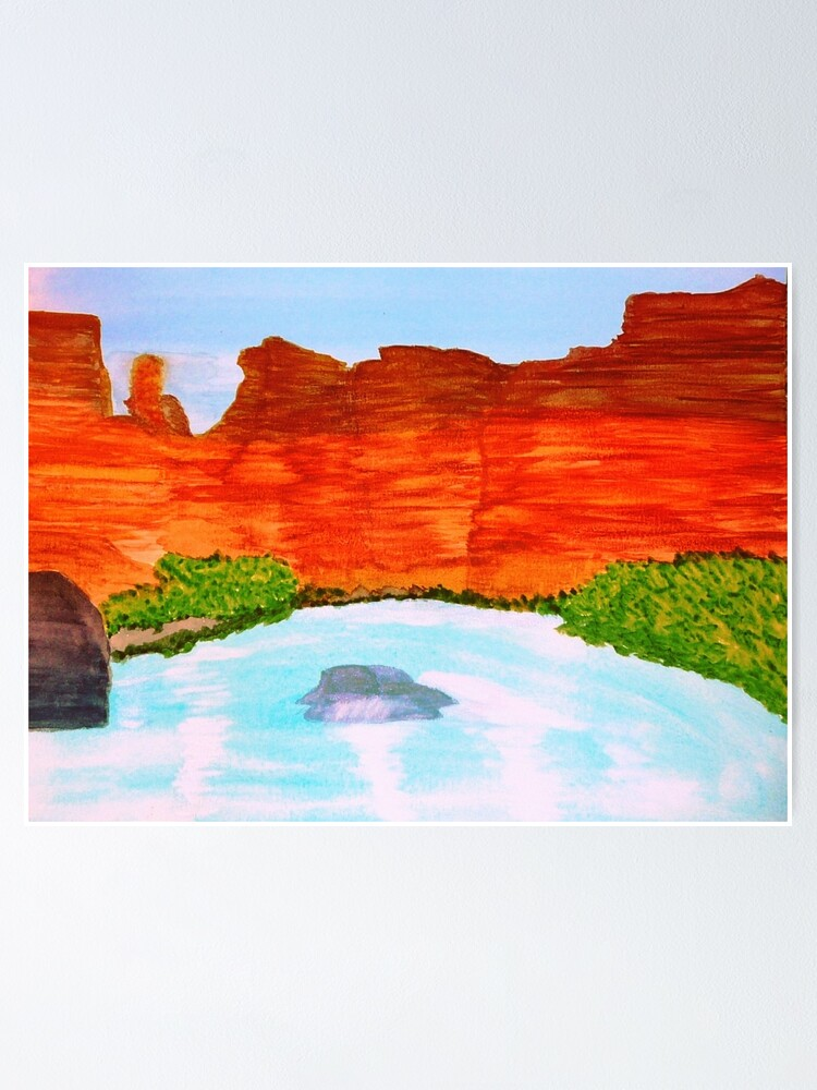 Alternate view of Arizona Turquoise Poster