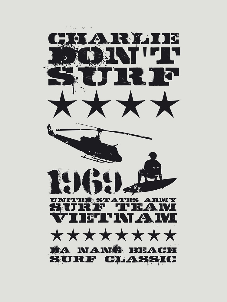 Surf team vietnam - Charlie don't surf - Black | Unisex T-Shirt