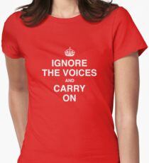 Ignore the Voices - Slogan Tee Women's Fitted T-Shirt