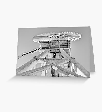White Windmill Greeting Card