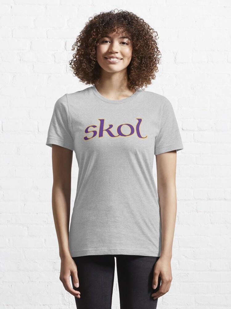 Alternate view of Celtic Inspired Skol Vikings Essential T-Shirt