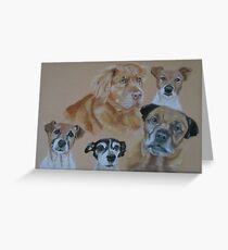 Polly's Canine Companions Greeting Card
