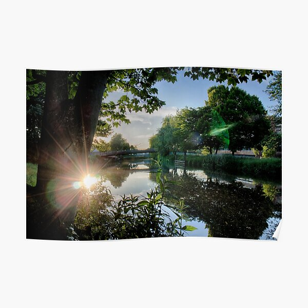 River Reflected Rays Poster