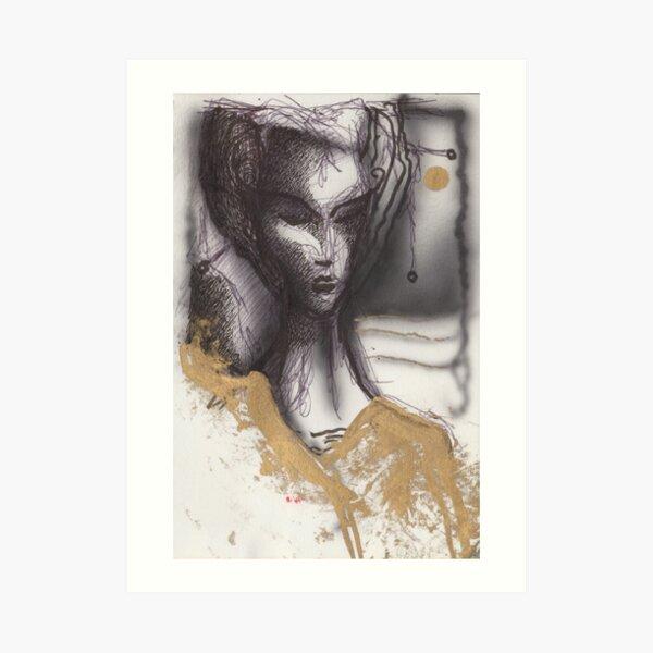 Geisha Gold Art Print