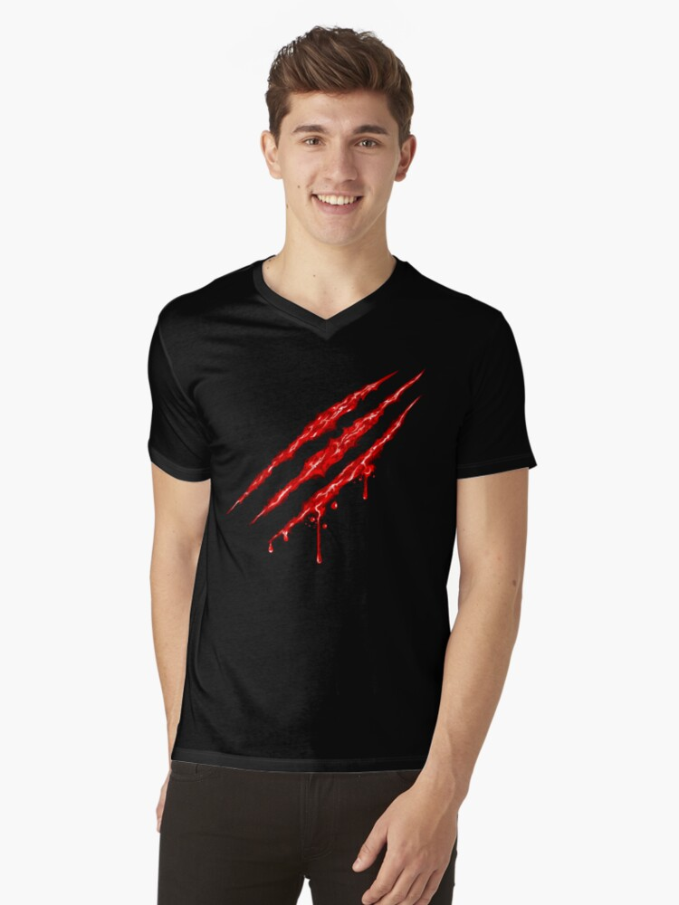 Claw Marks  Mens V-Neck T-Shirt Front