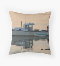 0600 Goin' Fishin' Throw Pillow