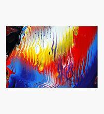 Acrylic Fluid Colour Trails Photographic Print
