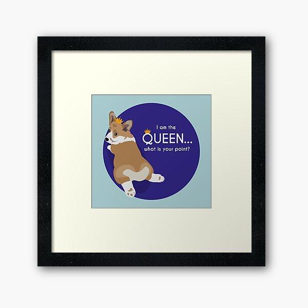 Queen Corgi Framed Art Print
