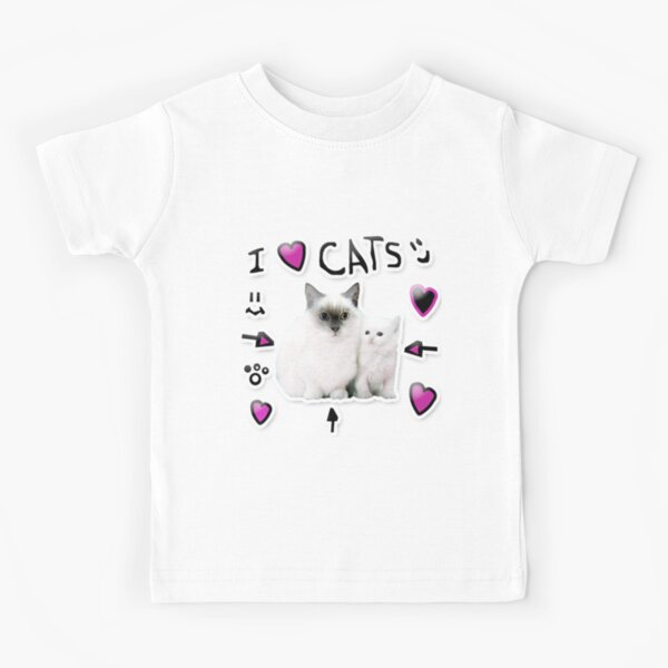 Denis Daily I Love Cats Kids T-Shirt