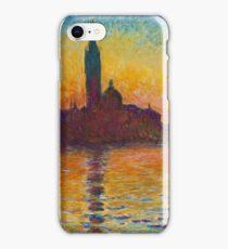 Claude Monet - Dusk in Venice iPhone Case/Skin
