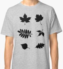 Bold Black Leaves Pattern Classic T-Shirt