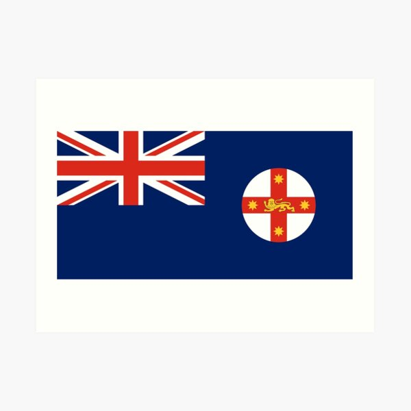 New South Wales Flag Stickers, Gifts and other Products Art Print
