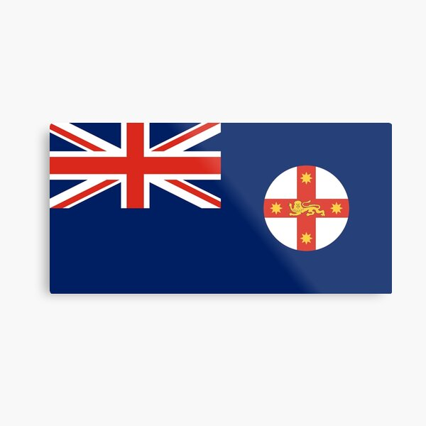 New South Wales Flag Stickers, Gifts and other Products Metal Print