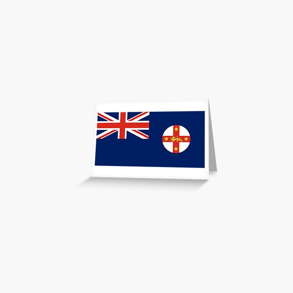 New South Wales Flag Stickers, Gifts and other Products Greeting Card