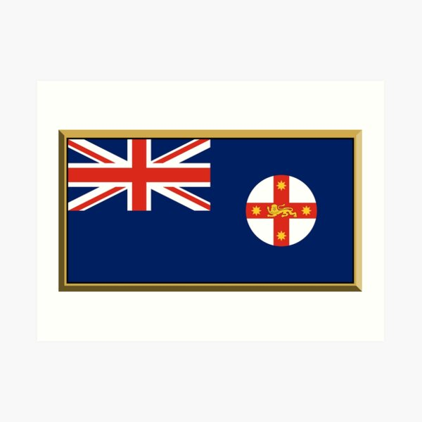 New South Wales Flag Stickers, Gifts and Products Art Print