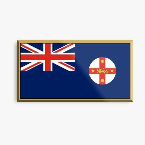 New South Wales Flag Stickers, Gifts and Products Metal Print