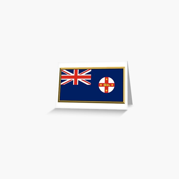 New South Wales Flag Stickers, Gifts and Products Greeting Card