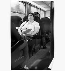 Lady Passenger in a Train... Poster