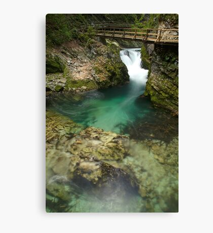 The Soteska Vintgar gorge Canvas Print