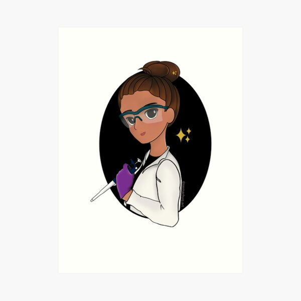 Scientist with p1000 Art Print