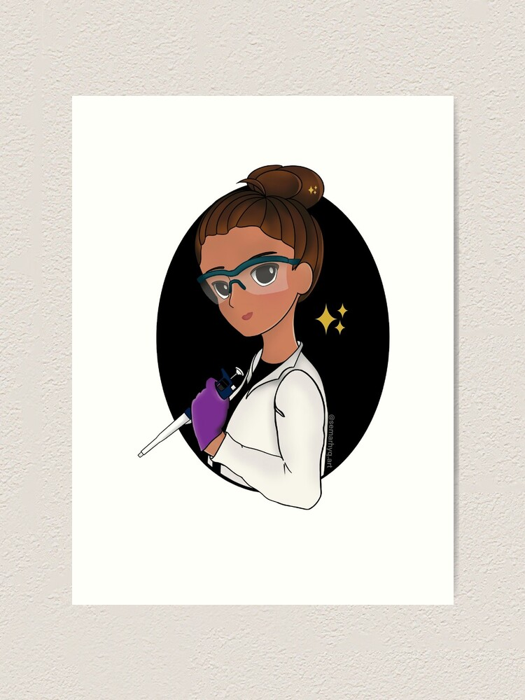 Alternate view of Scientist with p1000 Art Print