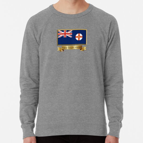 New South Wales Named Flag Stickers, Gifts and Products Lightweight Sweatshirt