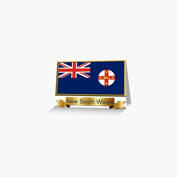 New South Wales Named Flag Stickers, Gifts and Products Greeting Card