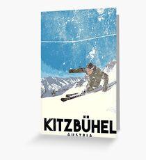 Ski Kitzbühel Austria (eroded) Greeting Card
