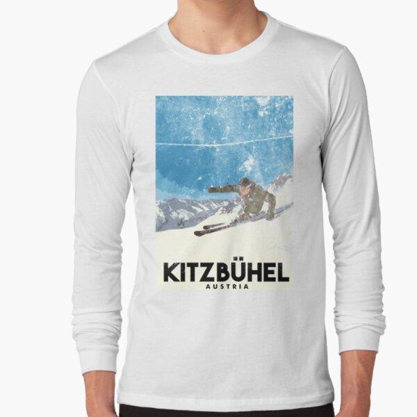 Ski Kitzbühel Austria (eroded) Long Sleeve T-Shirt