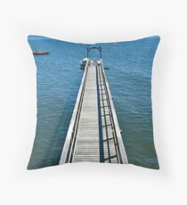 A Long Walk off a Long Pier Throw Pillow