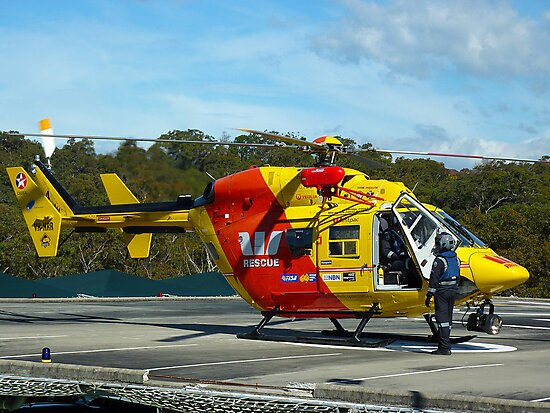 Westpac Rescue Helicopter, NSW by Sharon Brown