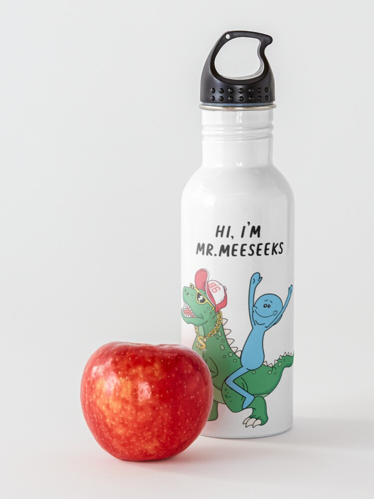 Alternate view of Rick and Morty Mr Meeseeks Riding Dinosaur Water Bottle
