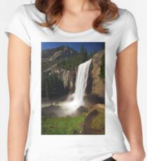 Vernal Fall from Mist Trail Women's Fitted Scoop T-Shirt