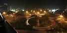 Semanggi Junction (by night) by buildings