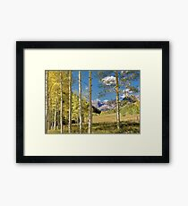 Maroon Bells from a distance Framed Print