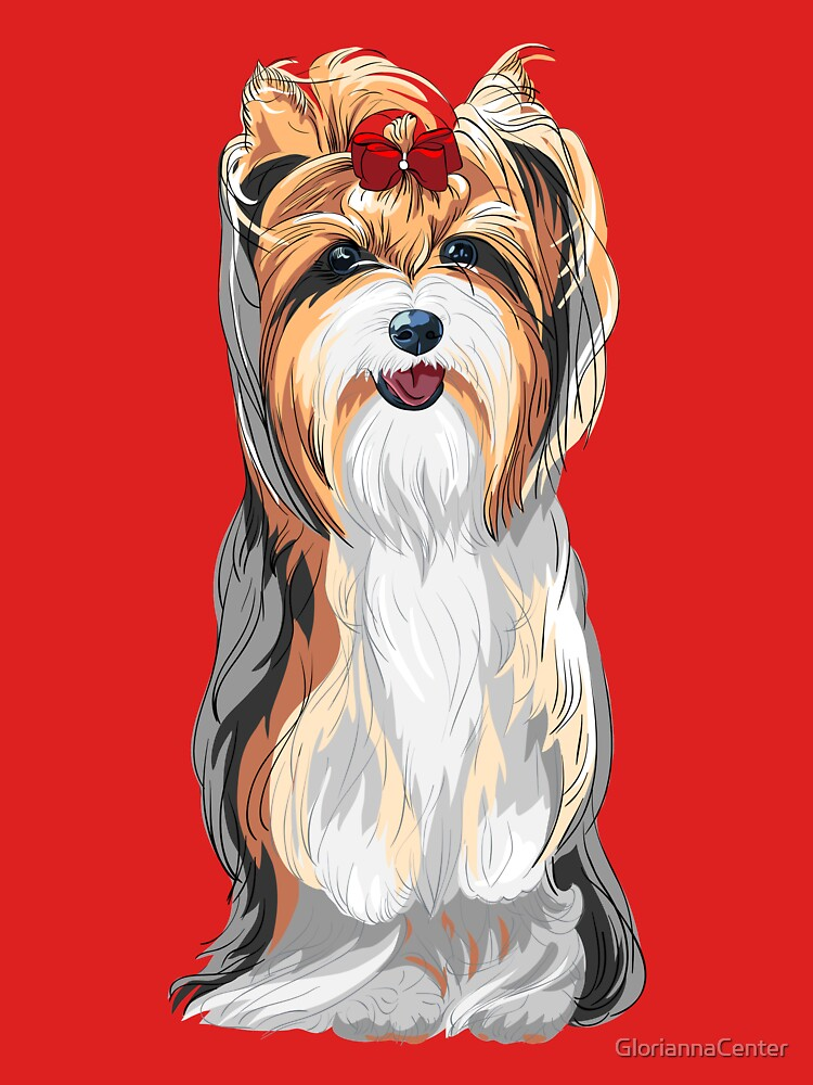 Yorkshire Terrier with a bow by GloriannaCenter