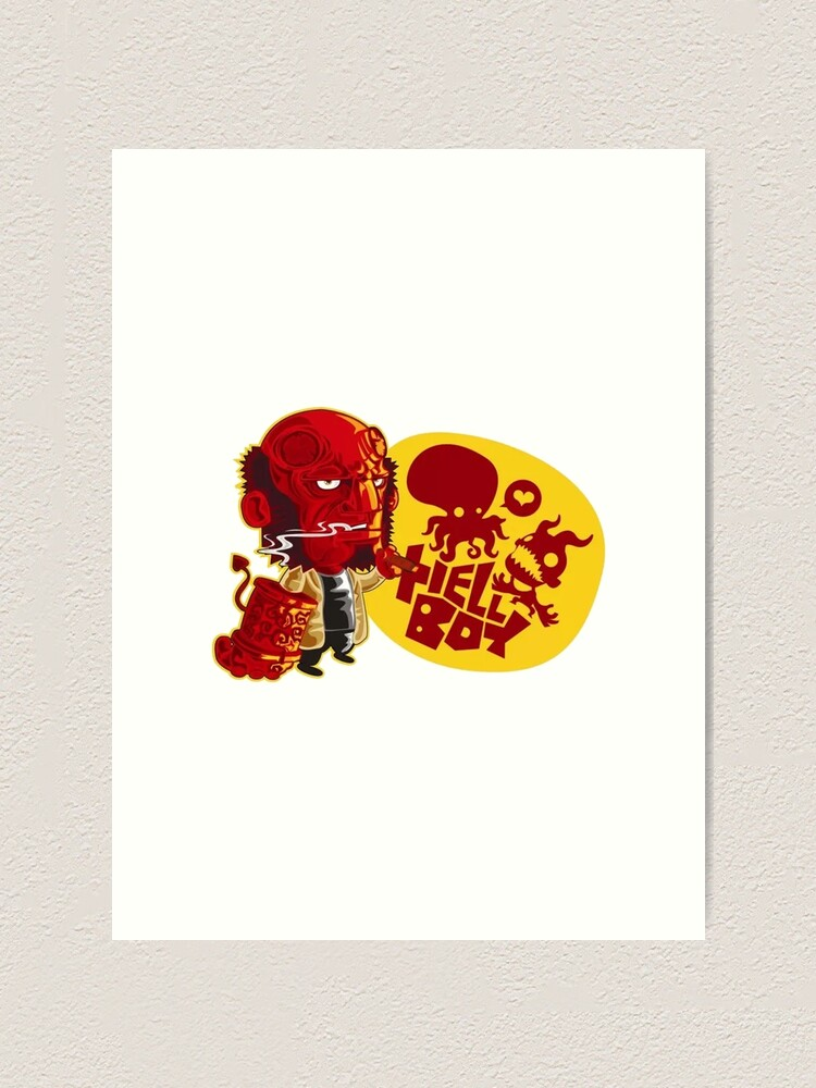 HELLBOY CANVAS PRINT PICTURE WALL ART FREE FAST DELIVERY VARIETY OF SIZES