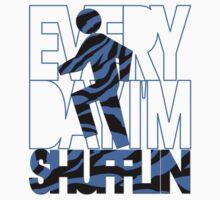 Everyday I'm Shufflin Blue Black Zebra