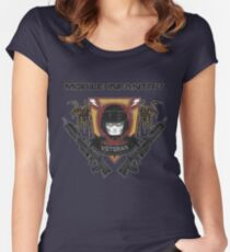 Veteran's Badge- Starship Troopers Women's Fitted Scoop T-Shirt