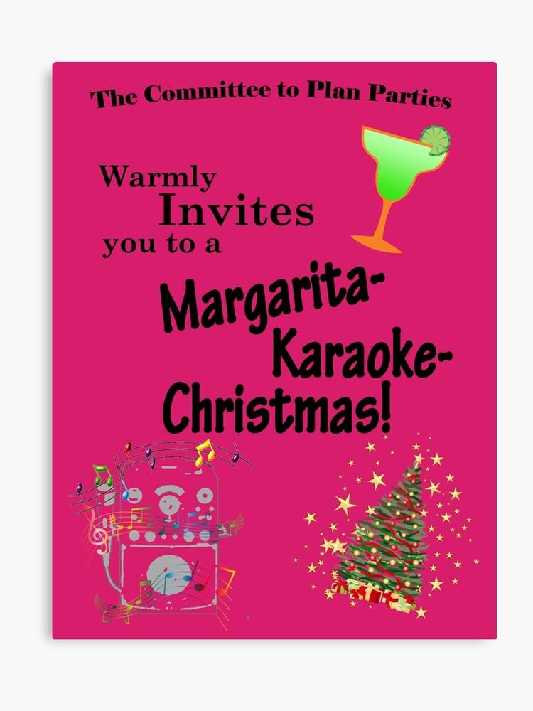 Karaoke Party Canvas Print