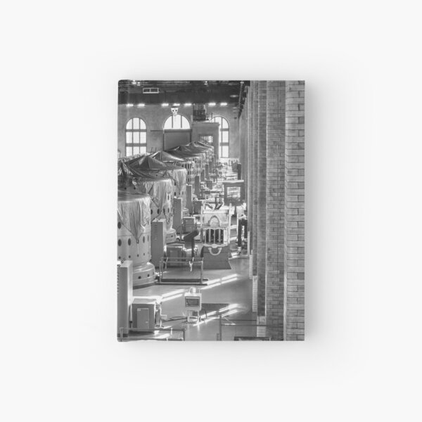 Generator Hall, Rankine Hydroelectric Power Station (black & white) Hardcover Journal