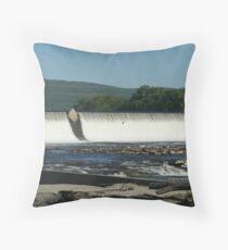 Quiet Waters, Holyoke Dam Throw Pillow