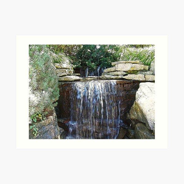 Waterfalls in the Park Art Print