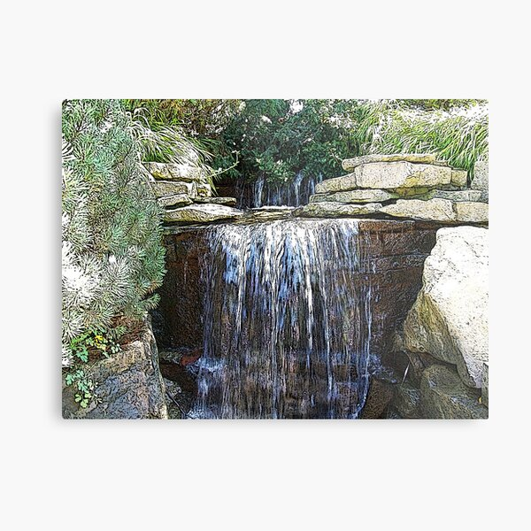 Waterfalls in the Park Metal Print