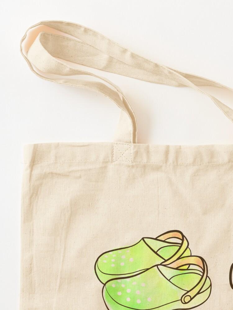 Alternate view of Crocs and Crocus watercolor illustration Tote Bag