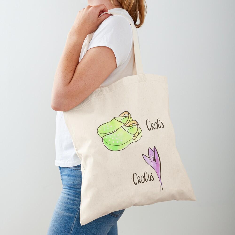 Crocs and Crocus watercolor illustration Tote Bag