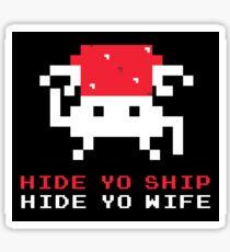 Space Intruders Sticker