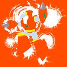 Crash Man Splattery T by thedailyrobot
