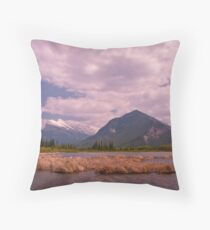 Lower Vermillion Lake, Banff Throw Pillow