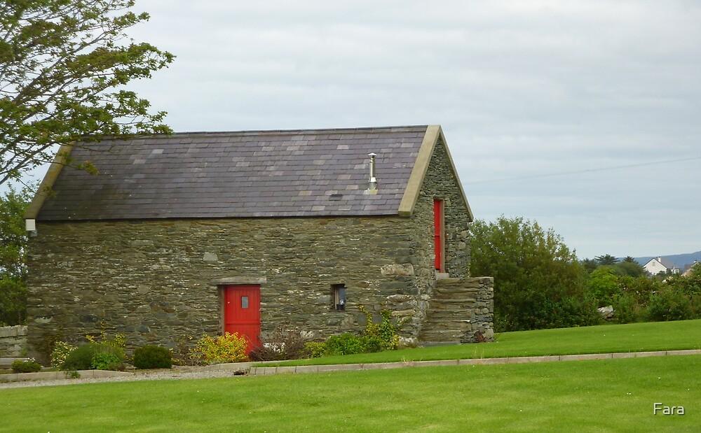 Irish Barn Conversion with Red Doors by Fara